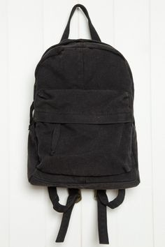 Brandy ♥ Melville | Black Canvas Mini Backpack - Accessories
