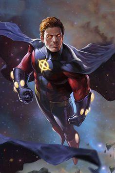 Quasar Comic Book Superheroes, Superhero Characters, Comic Book Characters, Hq Marvel, Marvel Comics Art, Marvel Heroes, Marvel Comic Character, Character Art, Quasar Marvel
