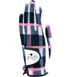 Glove It Women's Golf Glove in Pinkadilly Plaid