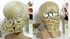 2 wedding prom hairstyles tutorials for long hair