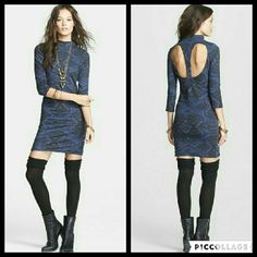 Free People Cute n Cozy Bodycon Dress This dress is brand new. It is the Cute n Cozy Bodycon Dress in Midnight Combo. Has a cute cutout in the back. Made of 97% cotton 2% polyester 1% spandex and a lining made of 100% rayon. Tag size is Small. Free People Dresses