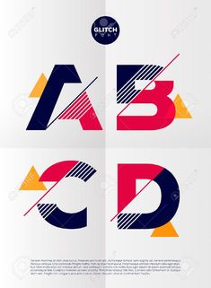 Typographic alphabet in a set. Contains vibrant colors and minimal design on a minimal abstract background Typographic alphabet in a set. Contains vibrant colors and minimal design on a minimal abstract background Graphisches Design, Typo Design, Graphic Design Typography, Lettering Design, Logo Type Design, Word Design, Alphabet Design, Typographie Fonts, Inspiration Typographie