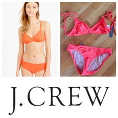 J.Crew NWT Bikini Bottoms (XS) J.Crew bikini bottoms in neon papaya (more orange like model picture). Flattering x-small bottoms. NWT. Can be sold with matching top. Reasonable offers are welcome! No trades! J. Crew Swim Bikinis