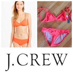 J.Crew NWT Bikini Bottoms (XS) J.Crew bikini bottoms in neon papaya (more orange like model picture). Flattering x-small bottoms. NWT. Can be sold with matching top. Reasonable offers are welcome! No trades! J. Crew Swim Bikinis