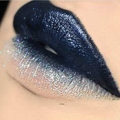 WOW I WISH SHE DID MORE LIPS LIKE THISLIPS BY @babyveemarie USING MINTY MOJITO GLITTER INJECTION