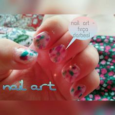 Nail art -brush strokes