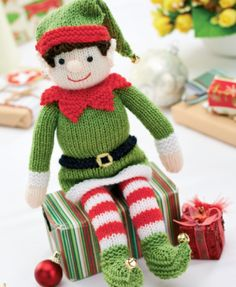 Bernard the Elf by Zoe Halstead - free from Let's Knit