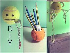 DIY mit Nina: Tennisball Upcycling! - YouTube