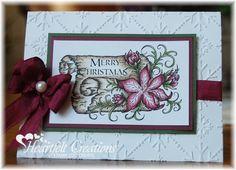 Heartfelt Creations | Poinsettia Scroll Card