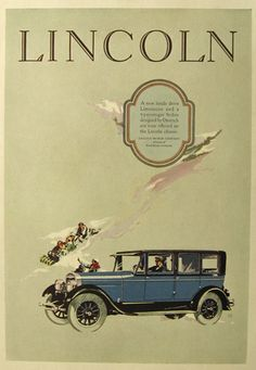Vintage Lincoln Motor Car Ad - 1926
