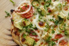 Summertime Veggie Pizza - light and healthy!