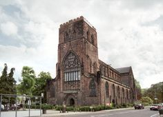 Shrewsbury Abbey (Shrewsbury, England) literally just down the street from my mother-in-law's house.