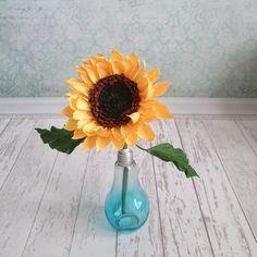 Paper sunflowers bouquet Floral arrangement Bridesmaids paper | Etsy Paper Flower Art, Crepe Paper Flowers, Paper Sunflowers, Bridesmaid Bouquet, Bridesmaids, Sunflower Bouquets, Paper Bouquet, Yellow Paper, Floral Arrangements