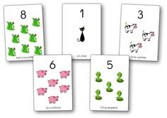 Affichages des chiffres et des nombres : les animaux