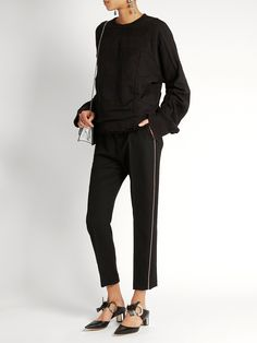 Orbai slim-leg cropped wool trousers   Haider Ackermann   MATCHESFASHION.COM US