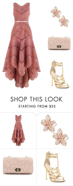 """""""Untitled #159"""" by destinee-miller15 ❤ liked on Polyvore featuring Zimmermann, NAKAMOL, Valentino, Chinese Laundry, dress, earrings, purse and heals"""