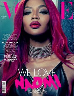 Naomi Campbell on Vogue Portugal February 2016 cover