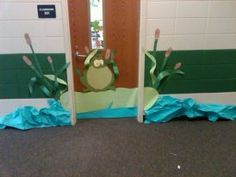 Frog theme classroom I created 2011-12.  You can make almost any idea 3D with bulletin board paper.