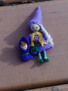 Waldorf bendy doll with felt mermaid outfit  And bundled baby  A Waldorf inspired bendy doll  By: A Curious Twirl  https://www.etsy.com/shop/ACuriousTwirl