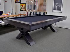 Plank and Hide Vox Pool Table - Robbies Billiards Outdoor Pool Table, Pool Table Room, Billiard Pool Table, Billiards Pool, A Table, Dining Table, Play Area Outside, Custom Pool Tables, Multi Game Table
