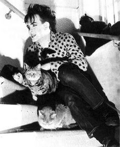 Robert Smith and his love cats, meow, meow