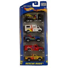 "Hot Wheels 5 Car Pack - Rescue Rods - Mattel - Toys ""R"" Us"