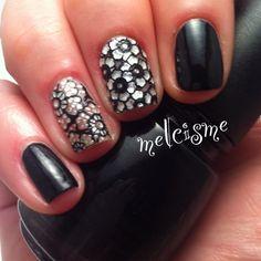 Glam nails using #kiss nail dress