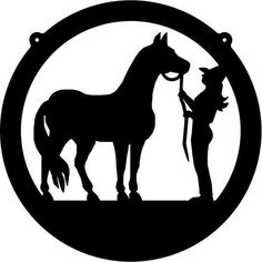 Horse and Rider Metal Wall Art Sign - Cascade Manufacturing Machine Silhouette Portrait, Horse Silhouette, Silhouette Images, Woman Silhouette, Metal Tree Wall Art, Metal Art, Horse Stencil, Western Quilts, Cowgirl And Horse