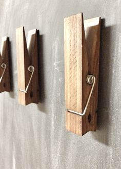 Large Rustic 6 Decorative Magnetic Clothespin by cherrytreegallery