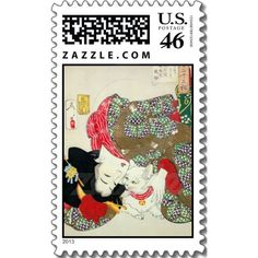 猫が好き, 芳年 I Love Cats, Yoshitoshi, Ukiyo-e Postage Stamps