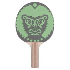 Ping Pong Paddle STONE-EYED GOD black green Scary Lion, Ping Pong Paddles, Shades Of Green, Dungeons And Dragons, Gods Love, Symbols, Stone, Illustration, Artwork