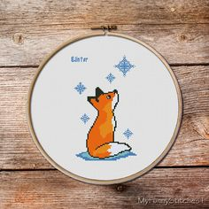 Fox Fox Cross stitch pattern Cute red fox by MyFunnyStitches1