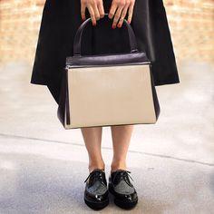 Celine Bi-Color Medium Edge Tote Bag