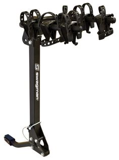 """Swagman Trailhead 3 Folddown Bike Rack(2"""" & 1 1/4"""" Receiver). Transports up to 3 bikes. Compatible with 1-1/4"""" and 2"""" receiver hitch. Built in anti-wobble hitch device. Our new two arm rack has super soft flexible cradles which rotate allowing a large variety of bike frames to fit. Arms easily fold away and rack folds down to allow access to the rear of your vehicle. . It is not a RV Approved bike rack, meaning that it is not supposed to be use on the rear of a 5th Wheel or Travel..."""