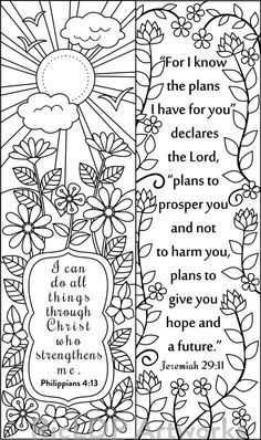 8 Bible Verse Coloring Bookmarks Verses And Rh Com Christian Puzzles Printable
