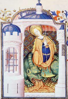 Sainte Marthe et la Tarasque. Manuscrit du XVe siècle. / Costa/Leemage