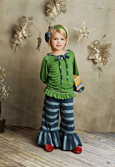 Persnickety Clothing - Bell Pants in Blue Stripe