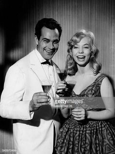Page, Ilse - Actress, Germany - toasting with film partner Adrian Hoven while filming 'Arzt aus Leidenschaft' - 1959 Vintage property of ullstein bild Videos, Youtube, Toast, Germany, Actresses, Vintage, Movie, Pictures, Magazines