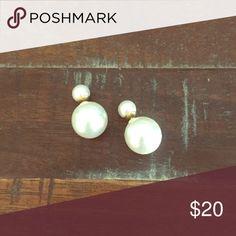 Double sided earrings Pearl double sided stylish earrings. Jewelry Earrings