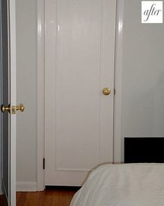 From Jenny Komenda Interiors: A great idea for turning those horrible hollow-core plain wood doors into something more substantial looking, but doing it on the cheap. Thanks Jenny another fantastic DIY!  http://littlegreennotebook.blogspot.com/2009/05/great-diy.html