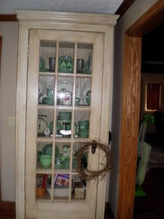 Superieur My Cabinet Von Built Me Out Of An Old French Door !