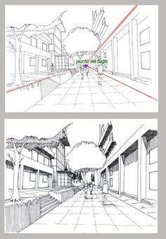 Drawing Tips Perspective Perspective Drawing Lessons, Perspective Sketch, Point Perspective, Drawing Techniques, Drawing Tips, Drawing Sketches, 3d Drawings, Urban Sketching, Art Tutorials