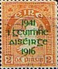 Postage Stamps of Eire Ireland 1941 Eire Issue SG 126 Easter Rising Overprint Fine Used Scott 118 More Stamps For Sale Take a Look