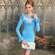 2012 autumn lace decoration ol elegant long sleeve dress plus size-inDresses from Women's Clothing & Accessories on Aliexpress.com   Alibaba Group