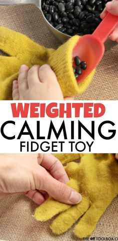 Sewing Weighted Blanket use a glove to make a weighted fidget toy. - Use a glove to make a DIY weighted calming fidget toy for kids to pay attention and increase concentration and focus in school or at home. Diy Fidget Toys, Diy Sensory Toys, Fidget Tools, Sensory Tools, Diy Toys, Sensory Play, Fidget Toys Classroom, Homemade Fidget Toys, Toys