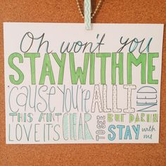 Stay With Me - Sam Smith - Lyric Drawing