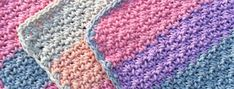 Woven Washcloth These Woven Washcloths are a great stash-buster; using just a handful of yarn, you can make a stack of these in no time at all! Materials • Yarn: Medium, Weight 4; Example made with…