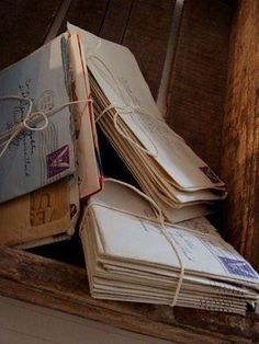 Handmade cards and note cards - Do you save old cards and letters? Why and how are they saved? Do you save them because of the message or the relationship with the person who sent it to you?