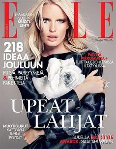 Cover of Elle Finland with Caroline Winberg, December 2011