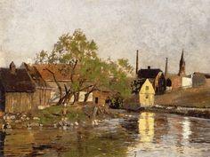 Akerselva 1882. Edward Munch (1863-1944)